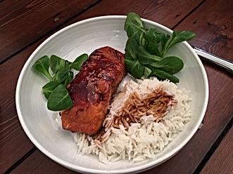 Pavé de saumon laqué sauce soja