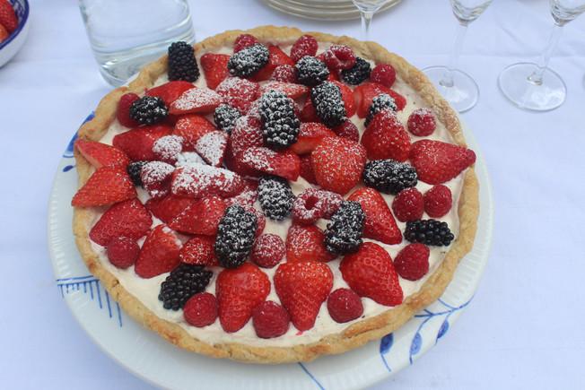 Tarte fruits rouges mascarpone