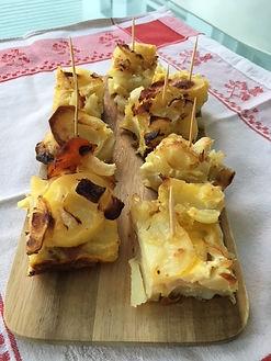 Carrés de pommes de terre à l'espagnol