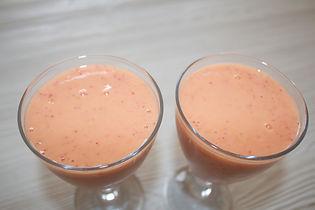 Smoothie mangue fraises