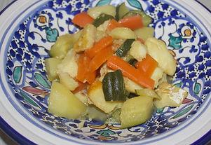 curry de poisson aux petits légumes