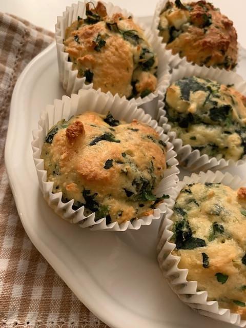 Muffins épinards feta