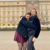Claire en Geissie in Krakau