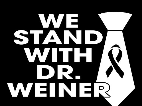 """""""We Stand With Dr. Weiner"""" Decal (4.8""""x3.6"""")"""
