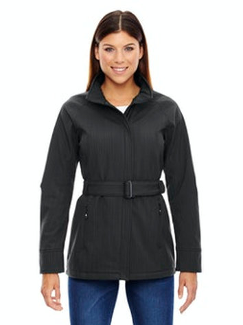 Women's Skyscape Three-Layer Textured  Soft Shell Jacket (Carbon Heather)