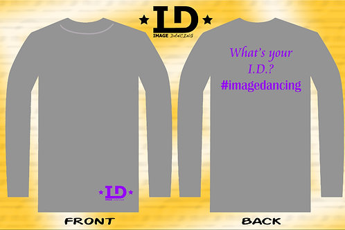 "Image Dancing ""What's Your I.D.?"" Long sleeve shirt (Adult Unisex Fit)"