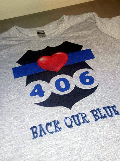 """""""Back Our Blue"""" HEART SHIELD"""