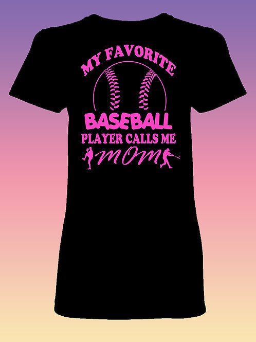 """Baseball Mom"" Women's Fit Shortsleeve"