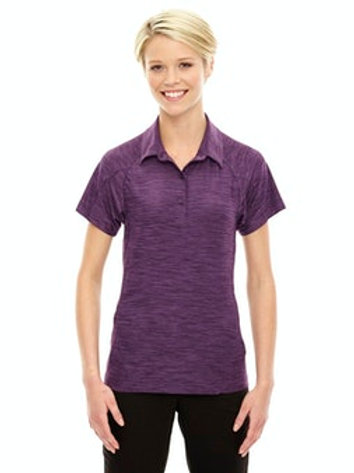 Women's Barcode Performance Stretch Polo (Mulberry Purple)