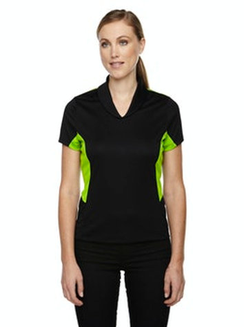 Women's Rotate UTK cool.logik Quick Dry Performance Polo (Black/Acid Green)