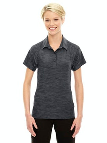 Women's Barcode Performance Stretch Polo (Carbon)