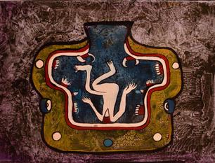 Aztec, Acrylic on Canvas, 2020