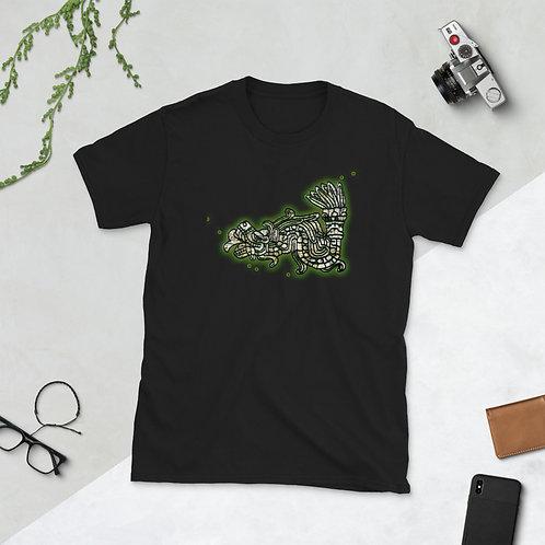 Feathered Serpent Green Short-Sleeve Unisex T-Shirt