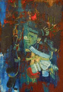 Basquiat Nopalera, Oil on Canvas, 2020