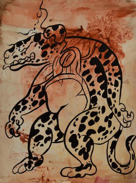 Jag Wayeb,  Watercolor & Ink, 2020