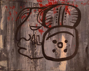 Lady Scribe, Acrylic on Canvas