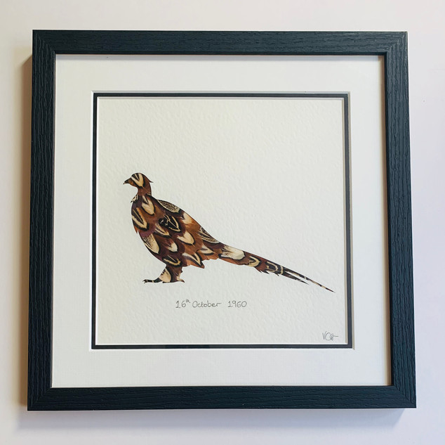The Classic Pheasant - personalised with