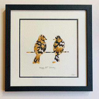 The Love Birds _ reeves pheasant feather