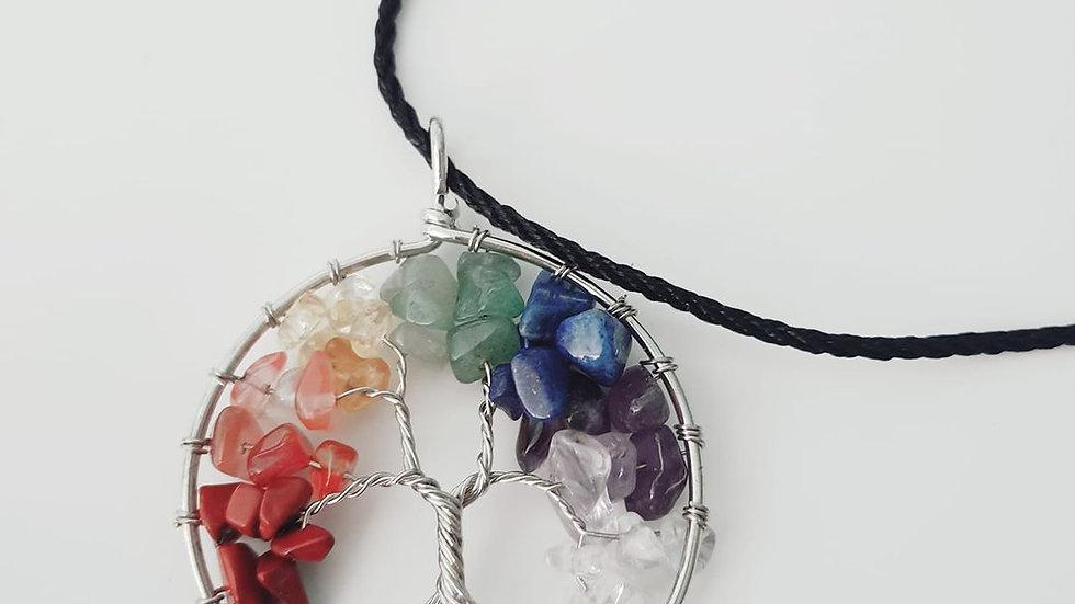 7 Chakra Gemstone Tree of Life Necklace