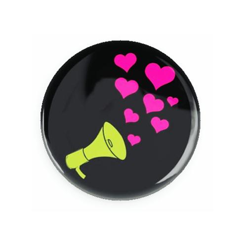 Megaphone w/ hearts
