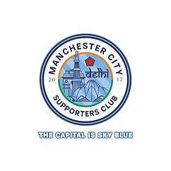 man city delhi supporters logo with new