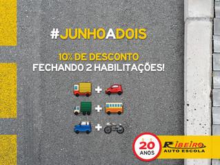 #JunhoaDois | 10% de desconto ao fechar 2 processos