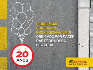 20 Anos | Auto Escola Ribeiro