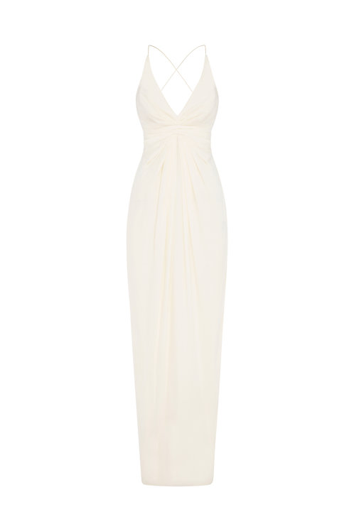 Silk Crossback Long Dress by Zimmermann