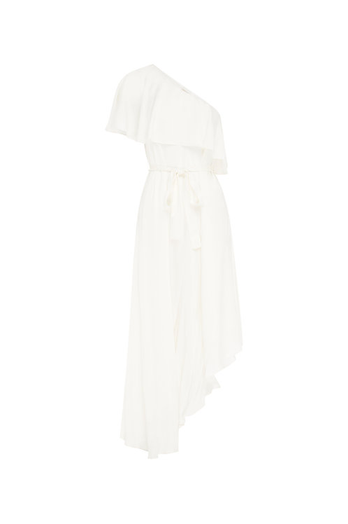 Sueded One Shoulder Long Dress by Zimmermann