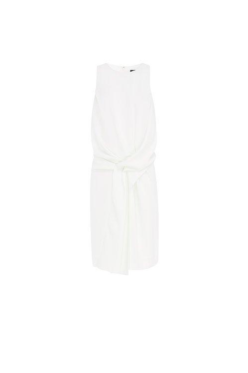 Draped Crepe Dress by Alexander McQueen