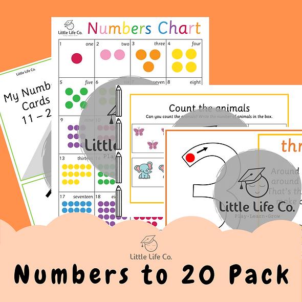 Numbers to 20 Pack (Digital)