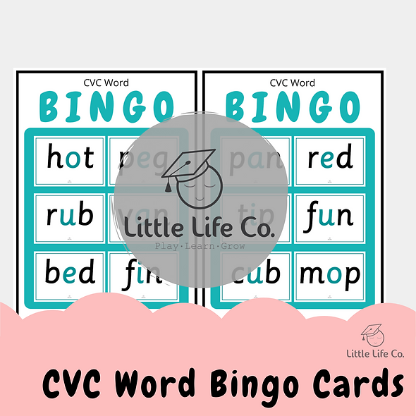 CVC Words Bingo (Digital)