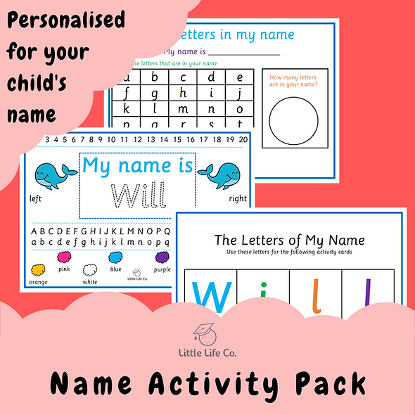 Personalised Name Pack