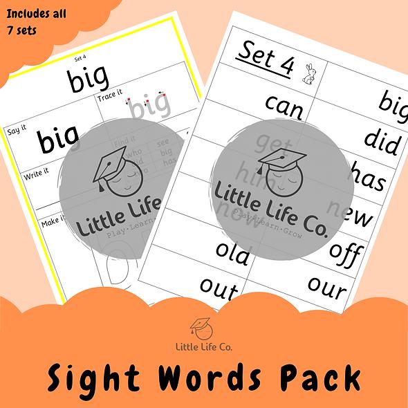 Sight Words Pack (Digital)