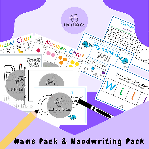 Name Pack & Handwriting Pack
