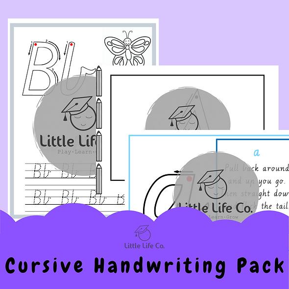 Cursive Handwriting Pack (Digital)