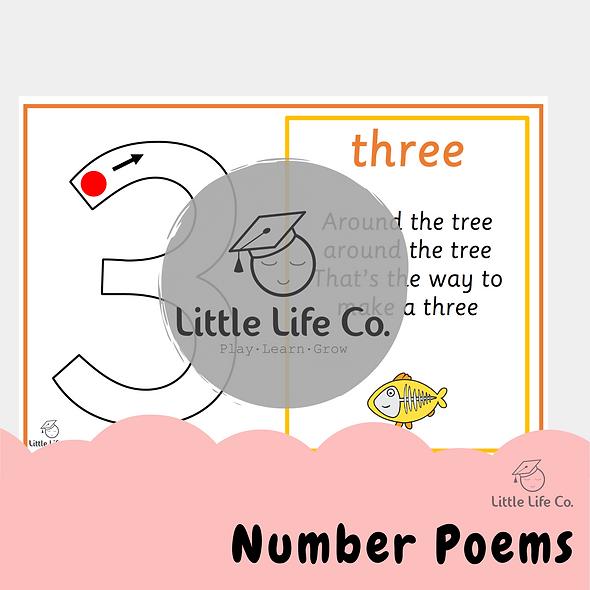 Number Poem Posters (Digital)