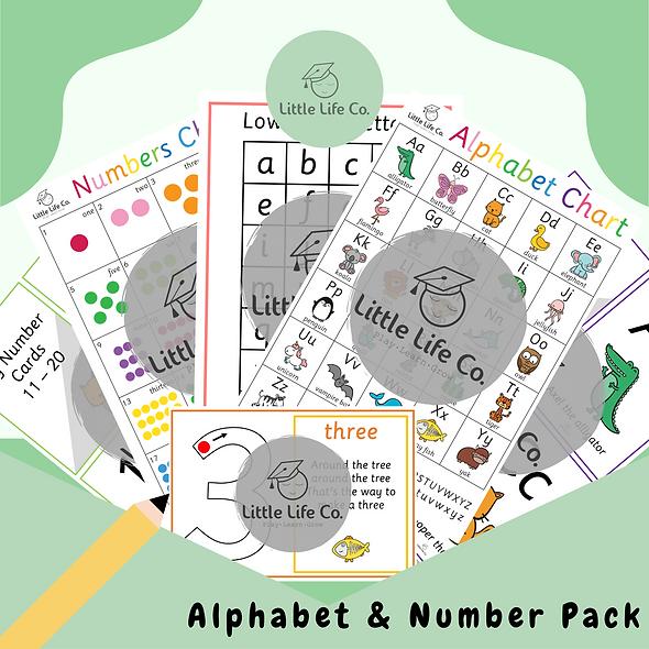 Alphabet & Number Pack