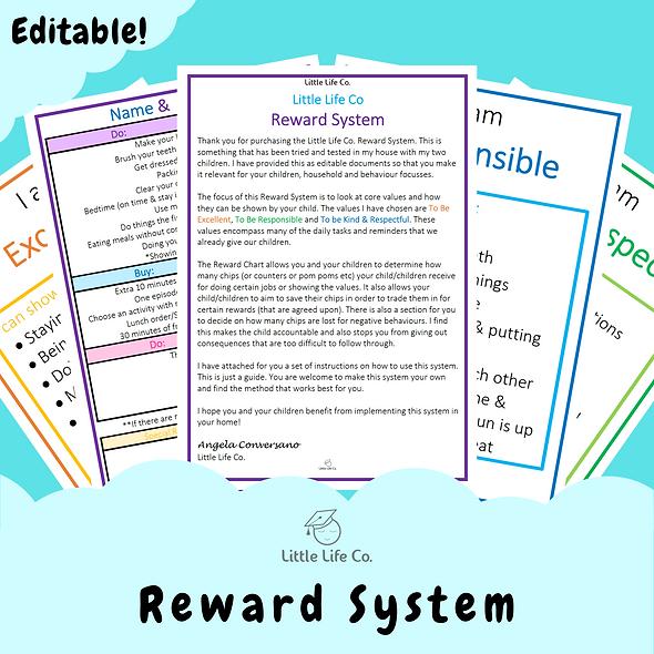 Editable Reward System (Digital)