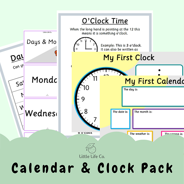 Calendar & Clock Pack (Digital)