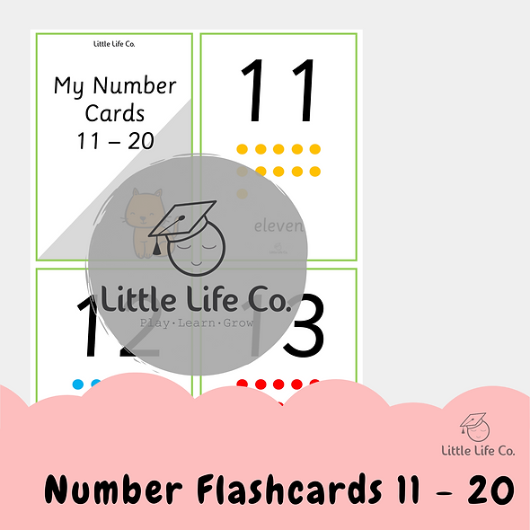 Numbers 11-20 Flashcards (Digital)