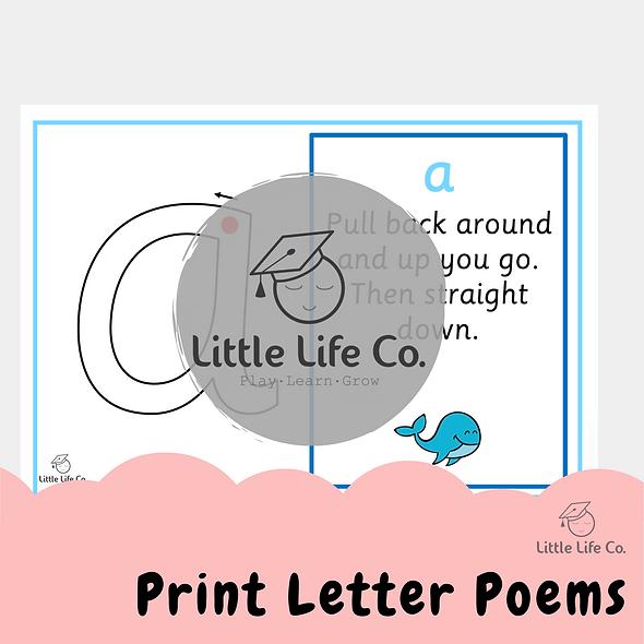 Print Letter Poem Posters (Digital)