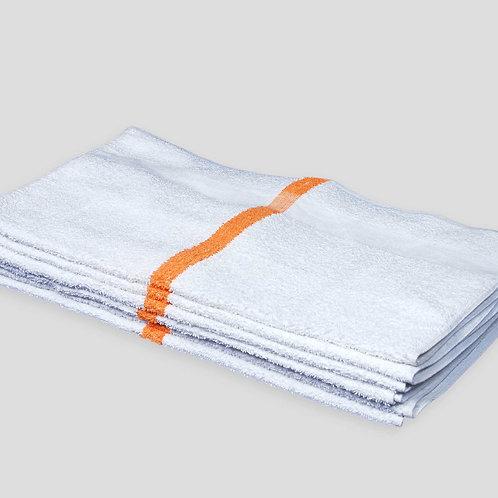"22"" X 44"", 6.0# BATH TOWELS, GOLD STRIPE, 10/S"