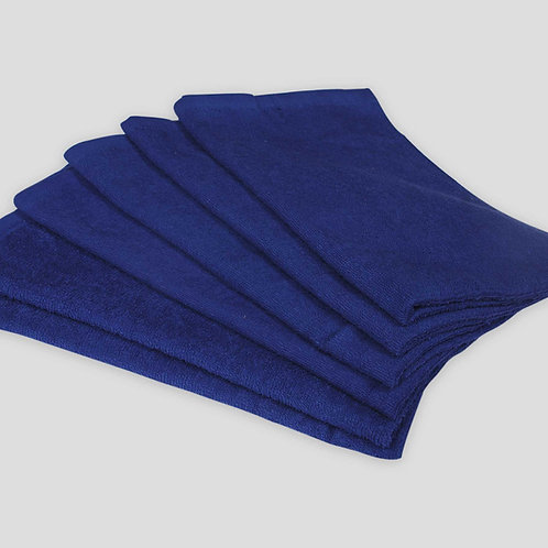 """16"""" X 27"""" ROYAL BLUE SALON TOWELS - RING SPUN - 100% COTTON"""