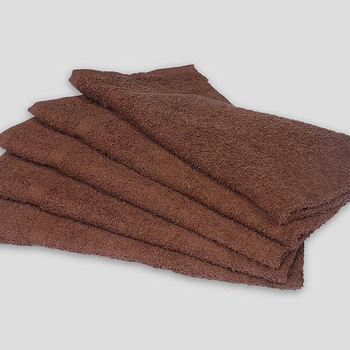 "16"" X 27"" BROWN SALON TOWELS - BLEACH RESISTANT - RING SPUN - 100% COTTON"
