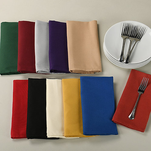 "20"" X 20"" COLOR NAPKINS SPUN POLYESTER"