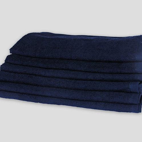 """16"""" X 27"""" BLACK SALON TOWELS - RING SPUN - 100% COTTON"""