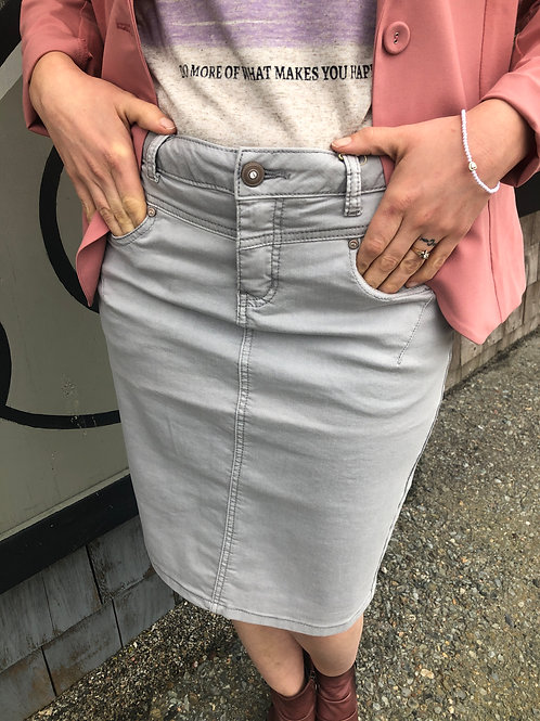 Cream CRLotte Twill Skirt Silver