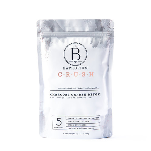 Bathorium Bath Salt Charcoal Garden Detox 600g