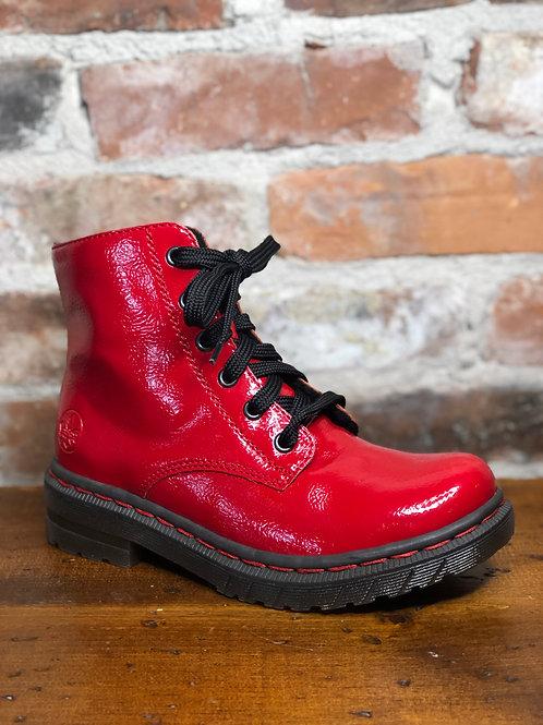 Rieker 76240-33 Red Bootie